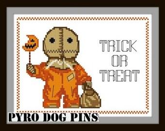Trick or Treat - Halloween Cross Stitch Pattern - Sam - Modern Cross Stitch Pattern - Sampler - Instant Download - Cross Stitch - PDF