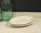 White Restaurant Platters Buffalo China Plate Illinois China Co Mid-Century Diner Platters