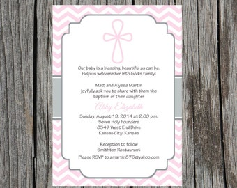 Printed Baptism Invitations - Baptism Christening Invitation Announcement , baby girl baptism invitation