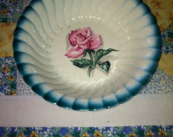 Vintage Homer Laughlin Shadow Rose Serving Bowl Made in The USA