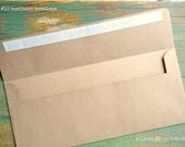 "25 Slimline Envelopes 3 7/8 x 8 7/8"" (98x225mm) OR #10 Business Envelopes 4 1/8 x 9 1/2"" (105x241mm) Kraft Brown, recycled bill envelopes"