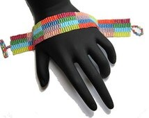 Candy Rainbow Peyote Bracelet