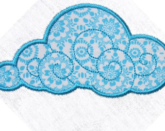 Cuddly Clouds Set  Applique machine embroidery files 4x4 , 5x7 - pes, sew, xxx, pec, vip, vp3, dst, hus, jef, exp
