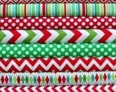 12 Pc Holiday Fat Quarter Bundle - Christmas Mixers & Blenders
