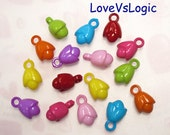 Wholesale.108 Acrylic Flower Charms.Mix Colors.