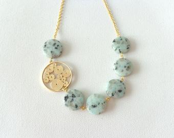 Blue gems necklace