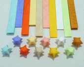 Spring Blossoms Rainbow Origami Lucky Star Paper Strips - flat pack of 70 strips