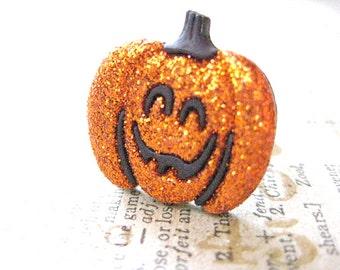 Jack-o-lantern Ring, Pumpkins Ring ,Halloween Jewelry, Fun Ring, Teen Jewelry,Fall jewelry,Chunky Jewelry,Glitter pumpkins,Halloween Spooky