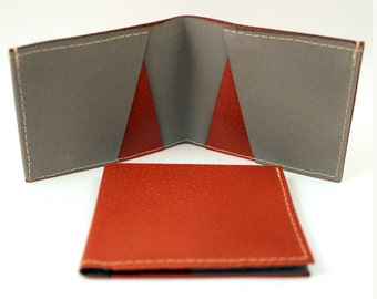 Ultra Slim LEATHER WALLET -  Unisex Modern Design for Women or Men