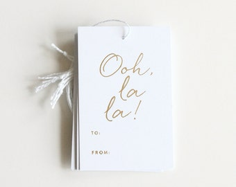 Gold Foil Gift Tags - Ooh, la la!