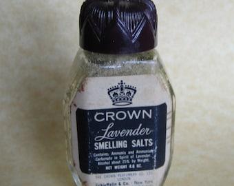 Vintage Crown Lavender Smelling Salts
