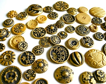 Edible Chocolate Candy Brass Buttons (Antique Inspired) 100 Cake Decoration - Wedding Favor - Special Gift