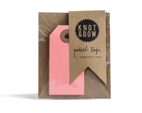 Pink Parcel Gift Tags / Set of 10