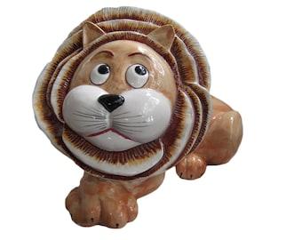 1970s Large Italian Ceramic Lion