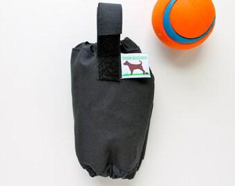 Dog Poop Bag Holder  - Eco Friendly, Reuse Your Shopping Bags - Black
