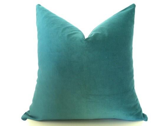 Emerald Green Velvet Pillow Cover - Emerald Green - 18 inch - Green Pillow - Velvet Pillow -  Designer Pillow - Decorative Pillow - Cotton