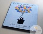 Hot Air Balloon Fingerprint Sign, Guest Book Alternative, Wedding Guest Book, You Are My Favorite Adventure Sign