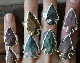 ARROWHEAD AGATE Rings /// Electroformed Gemstones /// Silver