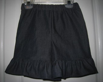 Denim Ruffle Shorts 6 12 18 24 2t 3t 4t 5t 6 7 8 Years