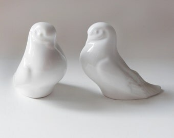 Vintage White Dove Candle Holders