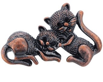 Two Cats Kitty Pin Brooch 1003911