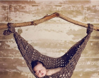 INSTANT DOWNLOAD PATTERN Brown Hanging Hammock Cocoon Photo Prop (Permission to Sell Finished Product)