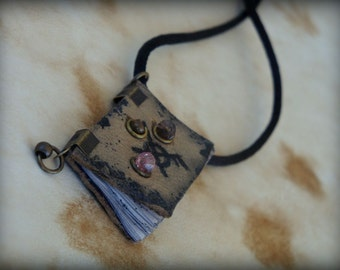 Luck and Success Runes Spell Book  Mini Book Necklace  by Dryw on Etsy
