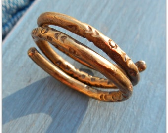 Men or Womens Brass Ring - Solid Brass