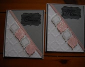 hand-crafted, pink and silver cards using Stampin Up products