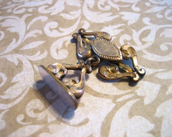 Victorian Gold Filled Wax Seal Watch Fob Charm