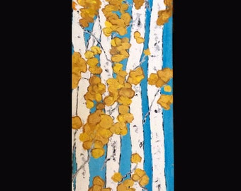 Aspen Birch Trees Commission this Original Painting on Gallery Wrapped Canvas ships 5 business days. Custom Size/Colors available