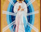 Divine Mercy Icon ready to frame Print, Catholic Art, 8x10, 11x14, 16x20, 20x30 print
