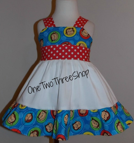 Curious George Dress Sassy Girl Children Clothing