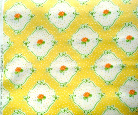 Super SALE : Urban Chiks Dream On flashback hello yellow moda fabric FQ or more