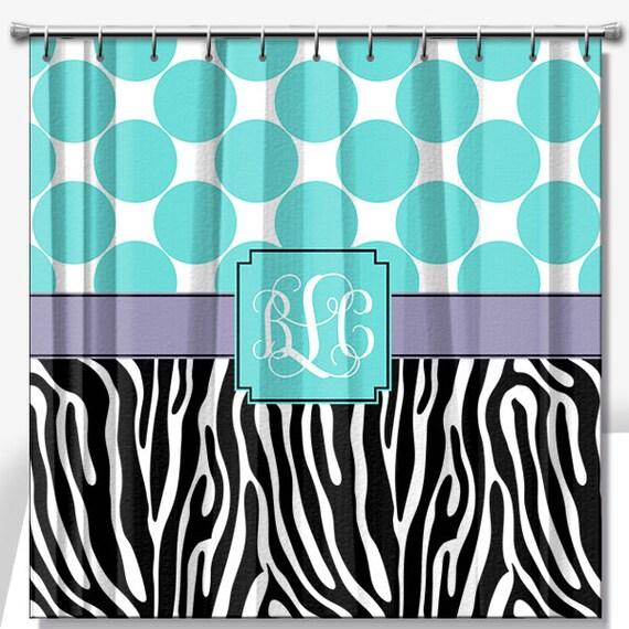 Shower Curtain 70x70, 70x90, Custom Shower Curtain, Monogrammed Shower ...