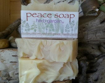 herb garden peace soap