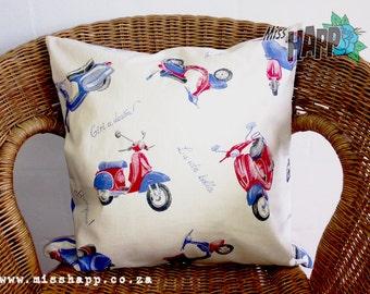 Retro Vespa cushion cover