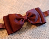 Maroon Bow Headband. Maroon Grosgrain Hair Bow Headband. Baby Hair Accessories. Girls Hair Accessories. Bow Headband, Baby Girls. Christmas