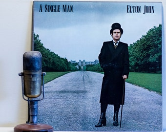 "ON SALE Elton John Vinyl Record Album 1970s Pop Pomp Rock Diva LP ""Single Man"" (1978 Mca w/""A Song For Guy"")"