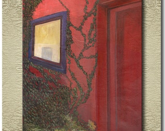 Red Door - Fine Art Print on heavy Cotton Canvas - unframed