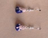 Hand Painted Budda Earrings