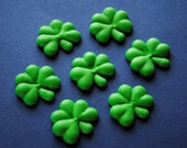 Edible Shamrocks- Cake Pop Decorations - Mini Royal Icing Cake/ Truffle Toppers (15)