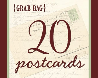 Grab Bag - 20 Postcards