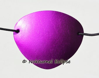 SMALL Purple Leather Eye Patch Pirate Halloween Cosplay Geek Costume Party Eye Wear Unisex CONCAVE SHAPE - Available Any Basic Color