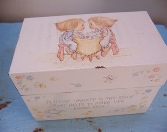 betsey clark recipe file box