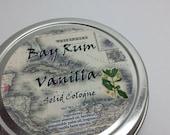 Solid Cologne  - Bay Rum & Vanilla