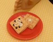 Miniature Waffles Breakfast for American Girls 1:3