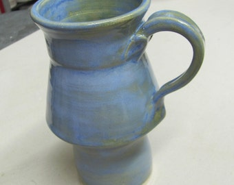 Travel Mug, Tea Mug, Ceramic Cup, Handmade Pottery, Large Mug, Coffee Cup.Artic Blue Cup