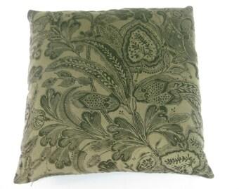 Fonthill Printed Brown Cotton Velvet Decor Pillow