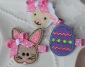 Spring and Easter Hair Clip Gift Set for Girls- Easter Bunny, Lamb, and Easter Egg Hair Clips- Discounted